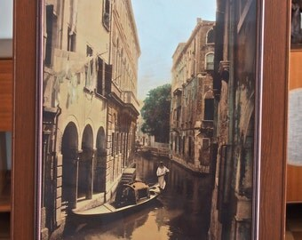 Vintage Venice Photo Gondelier