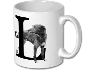L for Lurcher Dog Mug
