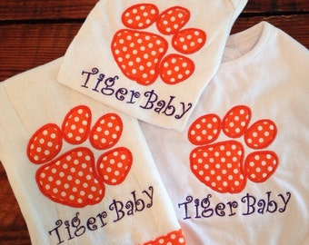 Clemson Tiger Baby Gift Set