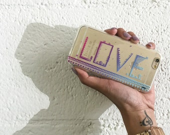 Clear Plastic Case Cover For Iphone 5 5s - Love