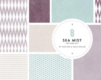 Sea Mist Digital Paper Set, INSTANT DOWNLOAD - DP109