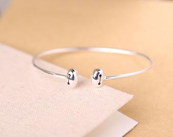 Sterling Silver Baymax Open Bangle Bracelet Lovely
