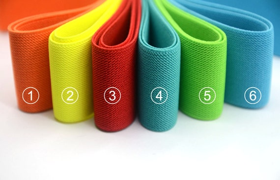 2 Inch 50mm Wide Solid Colored Double Side Twill Elastic