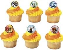 Skylanders Trap Team Cupcake Rings
