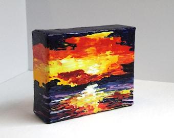Coastal Art, Landscape Painting,  Abstract, Sunset Painting, Marsh Landscape, Original Art, Coastal Landscape Art, Original, Acrylic