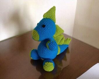 Crochet amigurumi dinosaur