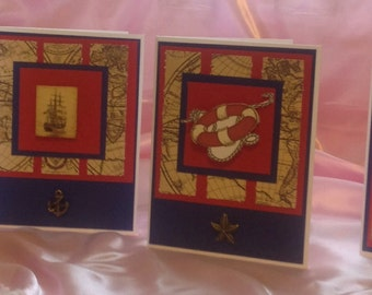 Handmade Nautical Card