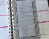 Laminated Dashboard - Erin Condren, Plum Paper or Spiral Bound Notebook Clip-In Insert - Newsprint/Newspaper - Lined