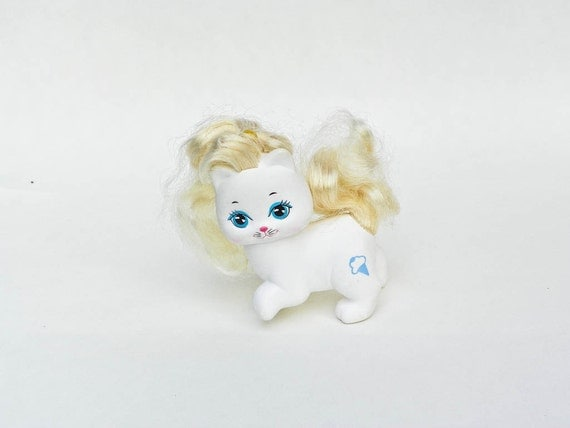 Vintage Little Pretty Kitty Frosty Fur White Body Blonde