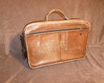 Vintage d' brozzi, inc. Soft Leather Briefcase / Laptop Bag