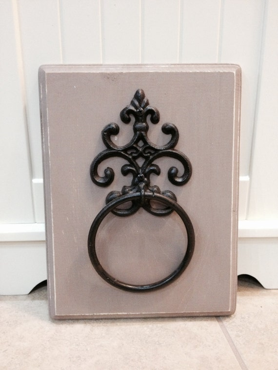 Decorative Bathroom Towel Storage : Antiqued towel holder decorative by