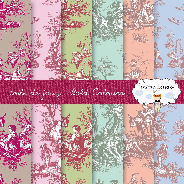 Toile de jouy french pattern design wallpaper by - Papel pintado toile de jouy ...