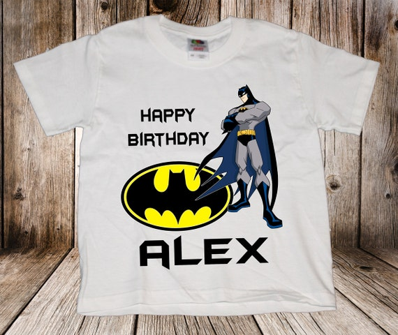 Personalized Batman Birthday Shirt - tshirt custom Comic Super Hero