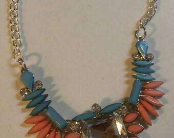 Gemstone Collar Statement Necklace