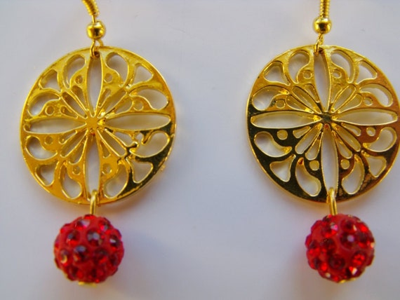 Melisandre Red Woman Inspired Earrings