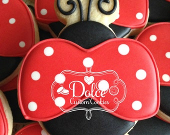 Lady Bug First Birthday Cookies