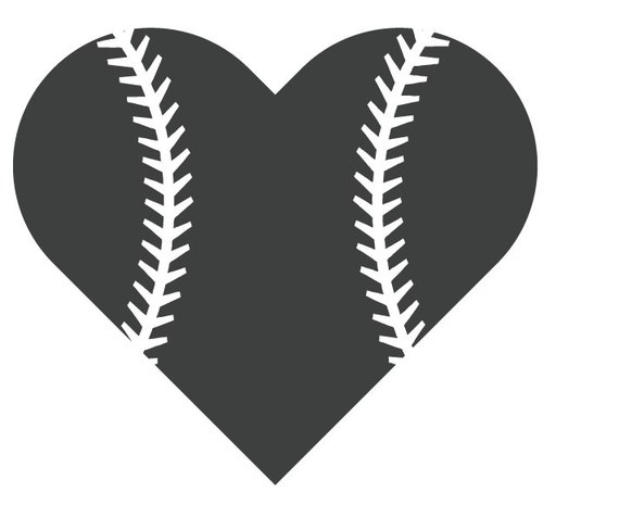 Baseball Heart File For Cutting Machines Svg And Silhouette Studio Dxf From