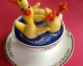 Felted Duck Tea Party