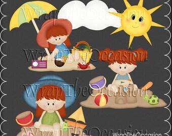 Summertime Fun Redhead Kids Set3 - CU Clipart