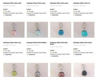 Pendant bead, name jewelry, Soulwindow, swing, silver