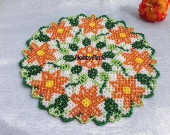 Pattern Doily circle of Flowers