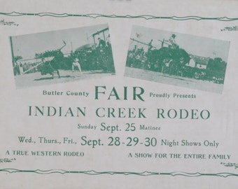 Original Indian Creek Rodeo and Fair Sign