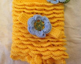 READY TO SHIP. 0-3 Months Crochet Lacy Yellow Romper.