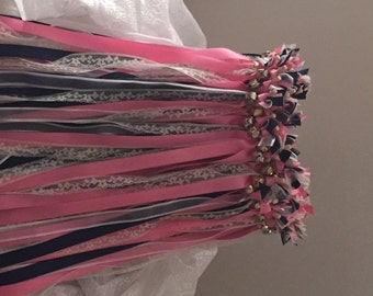 50 Wedding Wands/Wedding Ribbon Wands/Wedding Wand/Wedding Streamers