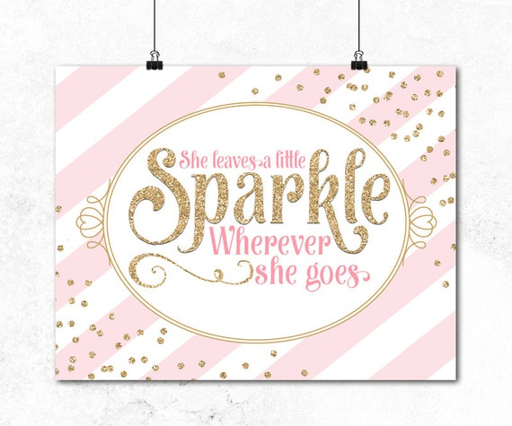 Little girls room pink and gold nursery decor girls for Signs for little girl rooms