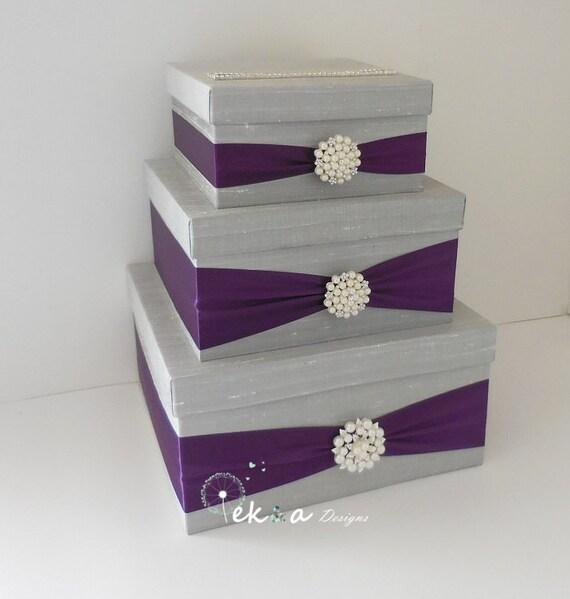 3 Tier Wedding Gift Box : Wedding card box holder / wedding money box / wedding card