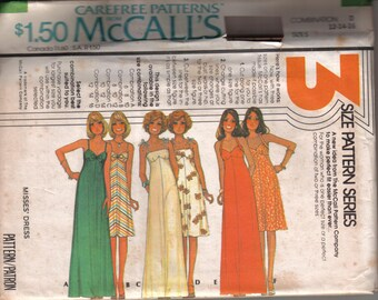Vintage McCall's UNCUT Sewing Pattern 5117 Misses' Sun Dress Dress circa 1976 Size 12-16 Bust 34-38