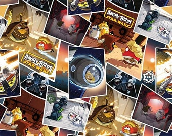 Angry Birds Star Wars - Classic Scenes Fabric