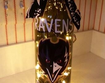Baltimore Ravens Lighted Wine Bottles
