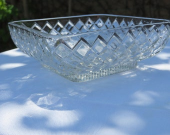 """Shimmering Cut Glass Square 5 1/2"""" Candy or Condiment Dish"""
