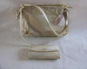 Vintage Michael Stevens genuine leather purse with matching wallet