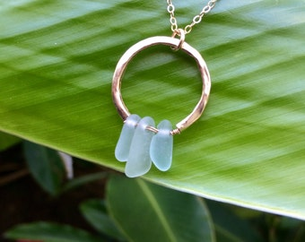 Ana - Sterling Silver Seaglass Necklace