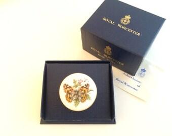 Vintage Royal Worcester Butterfly Trinket Box