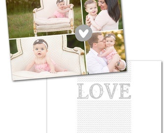 Sweetly Subtle Card 1 - Designed Photoshop Template for Custom Photography Cards