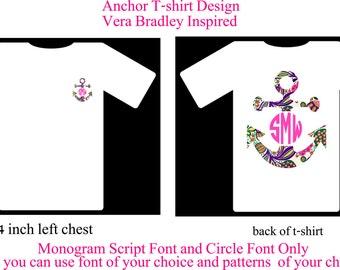 Monogram Shirt, Monogram Anchor Shirt