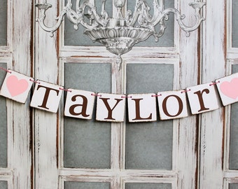 NAME SIGNS, Baby Shower Banners, Last Name signs, Welcome Baby signs, Rustic baby shower decor