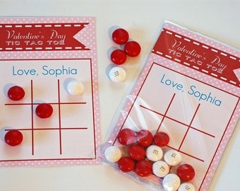 personalized valentines day card tic tac toe valentine valentines day game editable instant