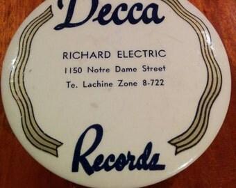 1930s 40s Decca Records Record Brush