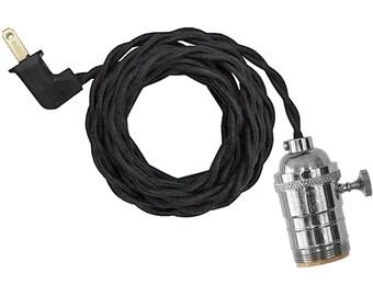 TURK-KNOB  LAMP w/ polished-nickel socket