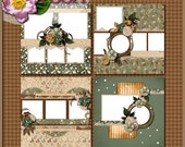 Digital Scrapbook: Vintage, Melancholy Quick Page Set