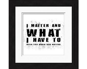 I Matter Affirmation