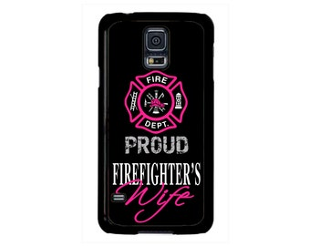 Firefighter Fireman Proud Wife Hard case cover For Samsung Galaxy S8 S7 S6 Edge Plus S5 S4 S3 Note 5 4 3 2 iPod touch 4 5 6 Hard case Cover