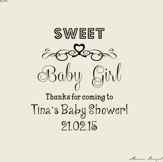 Sweet Baby Girl  or Boy custom Stamps  Baby Shower stamp -custom thank you  rubber stamp for baby shower tag --Personalized stamp-