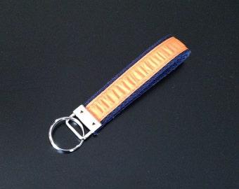 Orange and Navy Key Fob