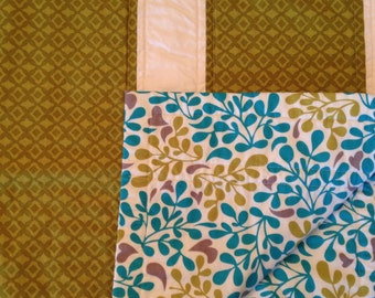 SALE** Lime Green and Teal Baby Quilt