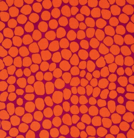 JUMBLE ORANGE BM053by Brandon Mably for Kaffe Fassett Collective Sold in 1/2 yd increments